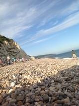 ah, on Beer beach, Devon at last yesterday evening