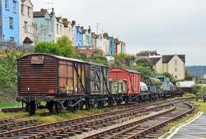 train tracks next to the Bristol dockside