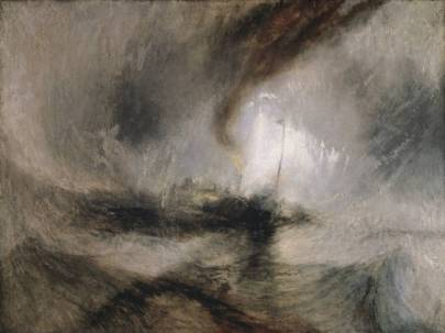 Snow storm - steam boat off the harbour's mouth by J.M.W Turner